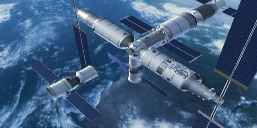 DKODING | Newsshot | An artist's impression of the Chinese space station | Credits: GB Times