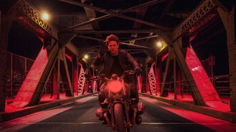 Tom Cruise Spotted Recreating The Iconic Bike Chase Sequence For Mission Impossible 7
