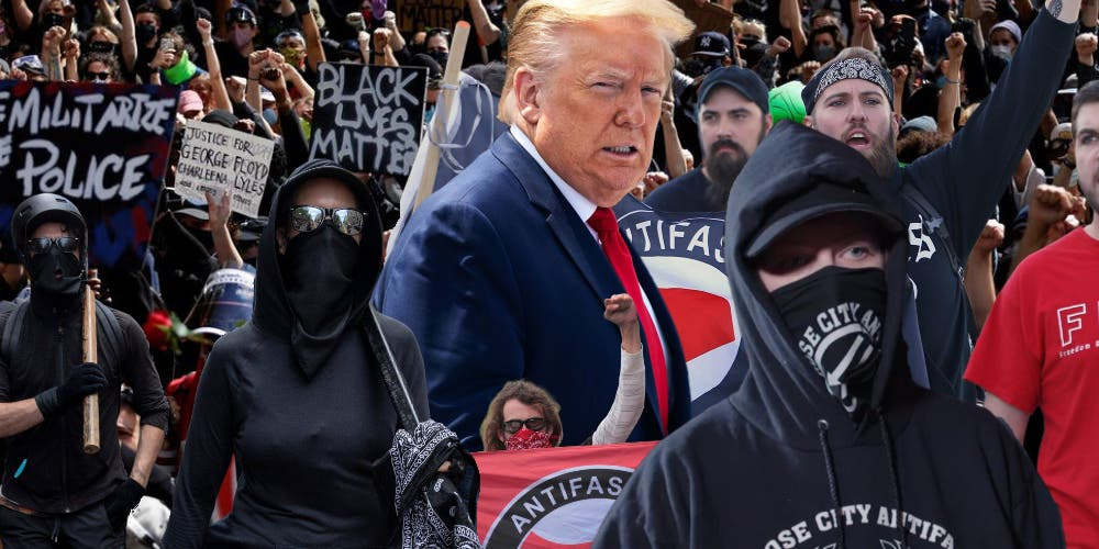 Trump Antifa comment