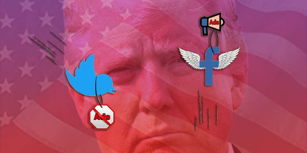 Trump Favouring Facebook and Slams Twitter