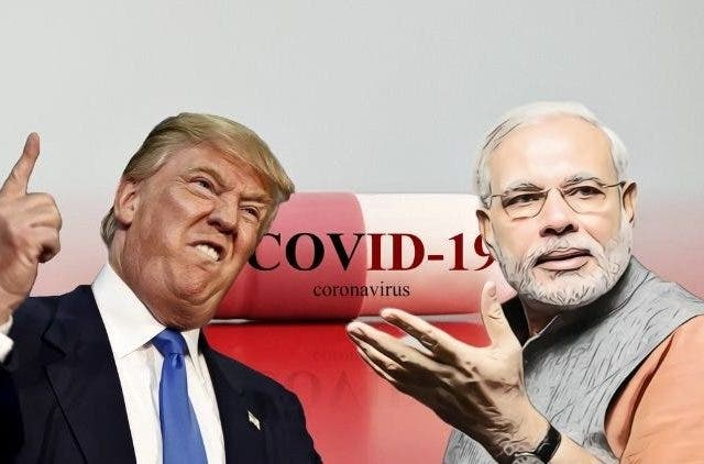Trump Modi Antimalarial