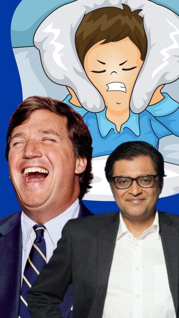 Arnab Goswami is the Indian equivalent of Fox News's Tucker Carlson, except that Goswami is even worse.