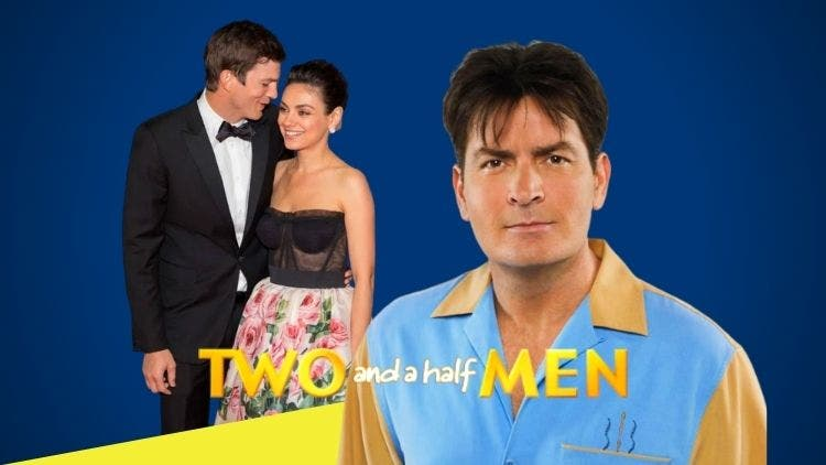 Romantic Track Of Ashton And Mila To Beat Charlie Sheen's Return Campaign On Two And A Half Men Reboot