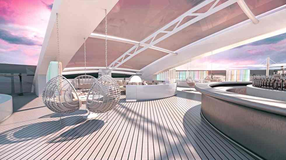 bright sunlight hitting the open deck