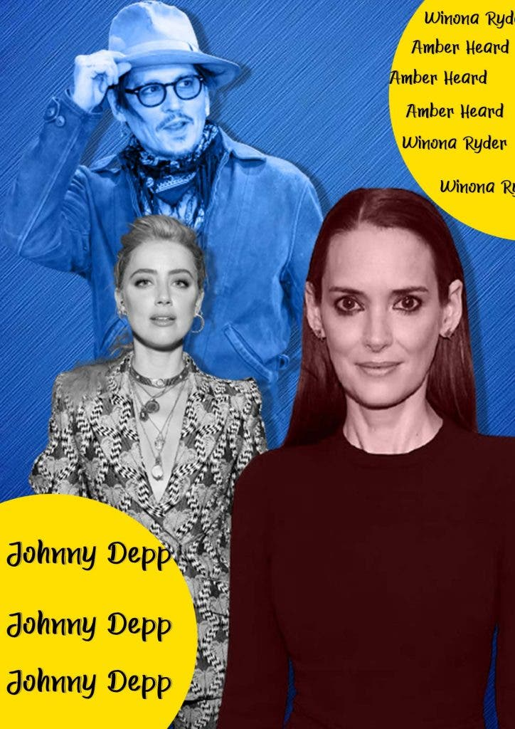 Winona's reaction to allegations against Johnny Depp