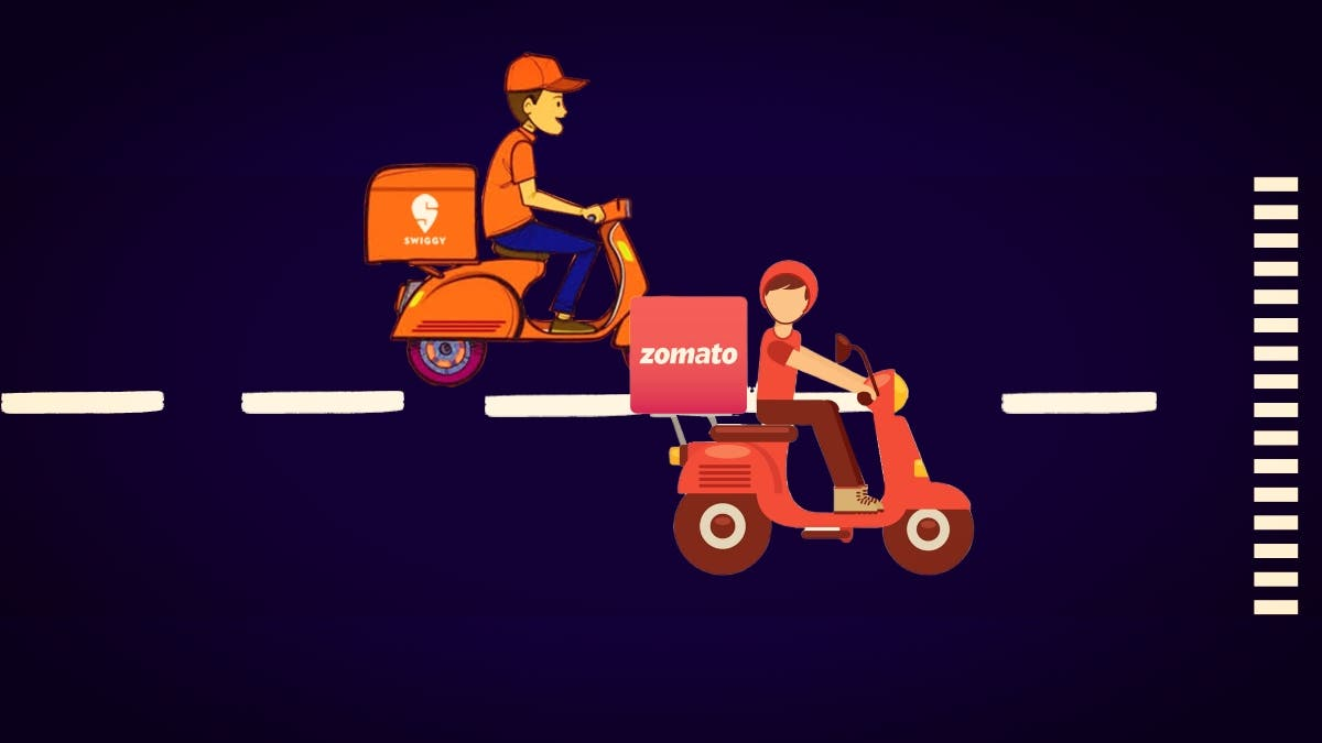 Zomato Swiggy Race