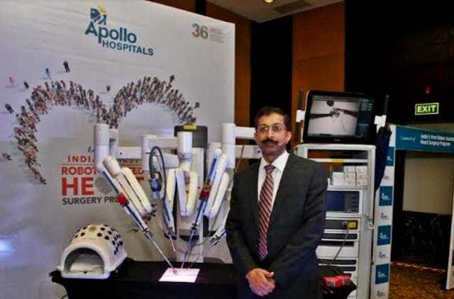 apollo-hospitals-bangalore-launches-first-dedicated-robot-assisted-cardiac-surgery-unit-in-india-Companies-Business-DKODING