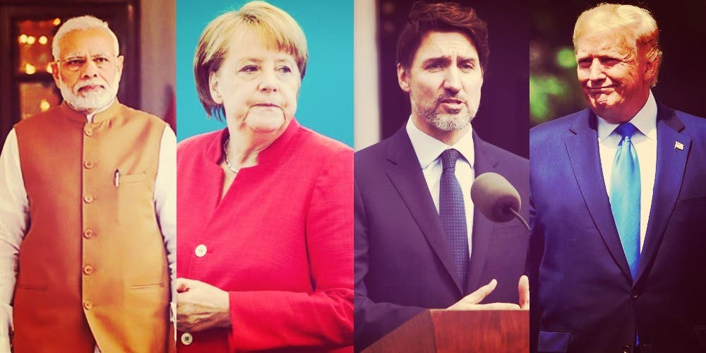 Trump, Modi, Trudeau, Merkel And Conte: Four Different Gameplans And One Desperate Cry For Help