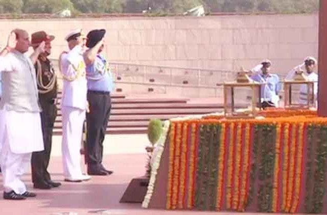 rajnath-singh-tribute-army-officers-videos-DKODING