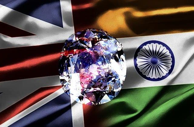 uk-india-flags-Return-Kohinoor-DKODING-NewsShot